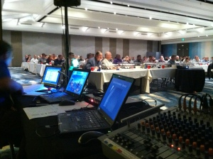 Conference sound and projection
